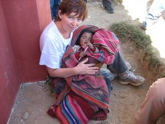 Angela and baby in Peru